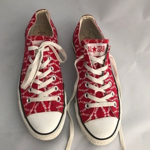 "Red Converse Sneakers ""Desi(Red)"""